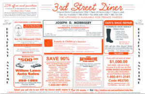 Restaurant Placemat Advertising
